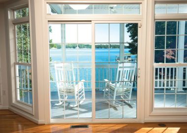 A solar window film blocking out the UV rays.