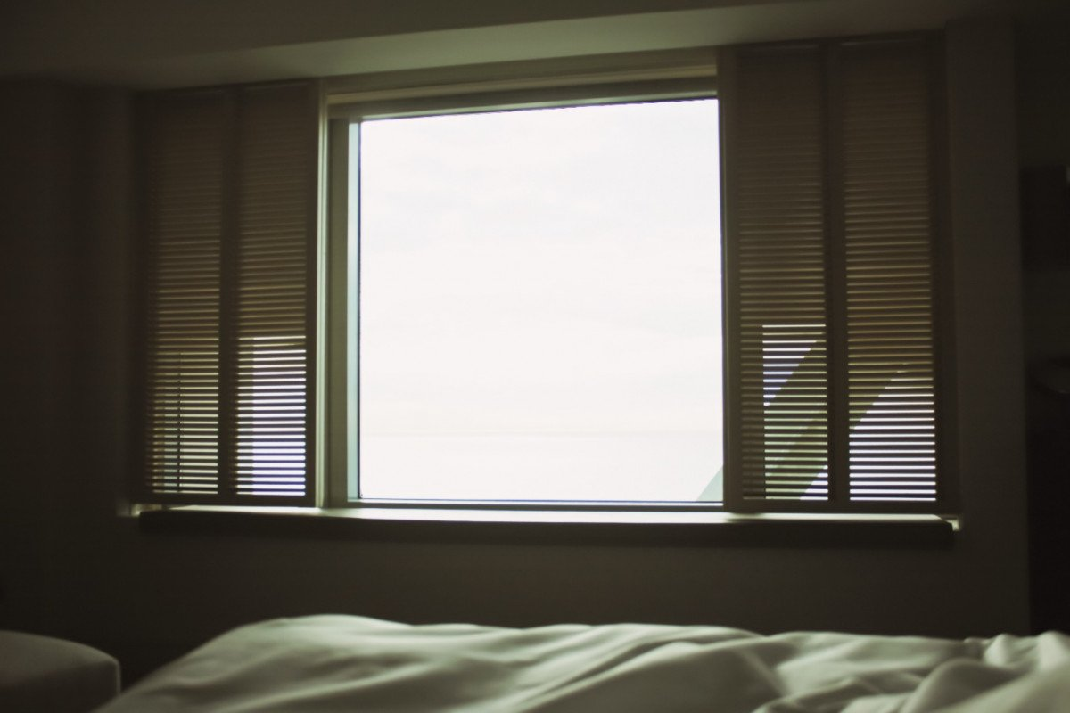 Roller style shades allows the natural sunlight to embrace the room