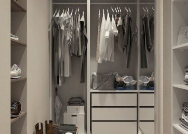 customized closet in your dressing room.