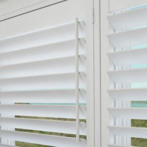 Close-up of polyvinyl shutter