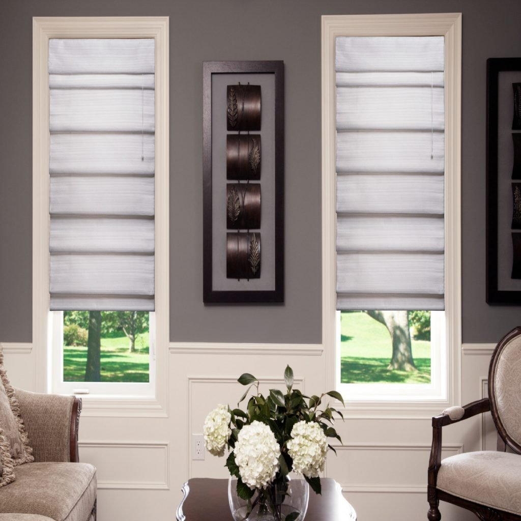 Maxxmar Roman Shades with Ratcheting Pull